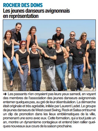 Article rocher des doms mai 1