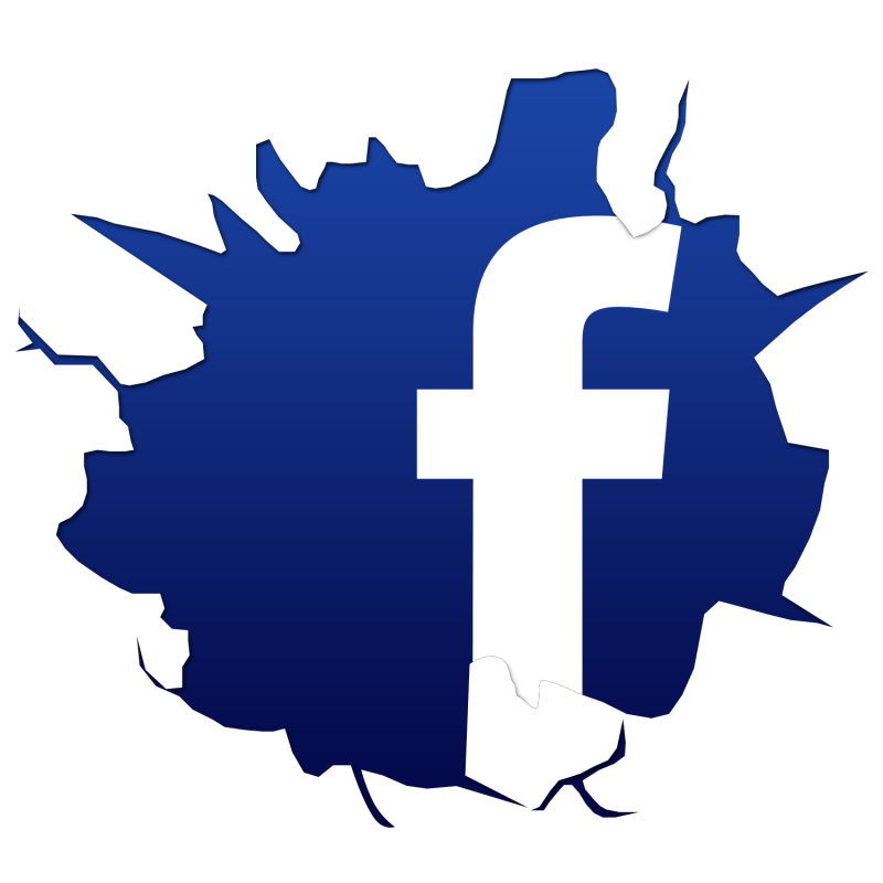 Cracked facebook logo 1368459203367 png